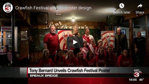 Breaux Bridge Crawfish Festival Poster Unveiling