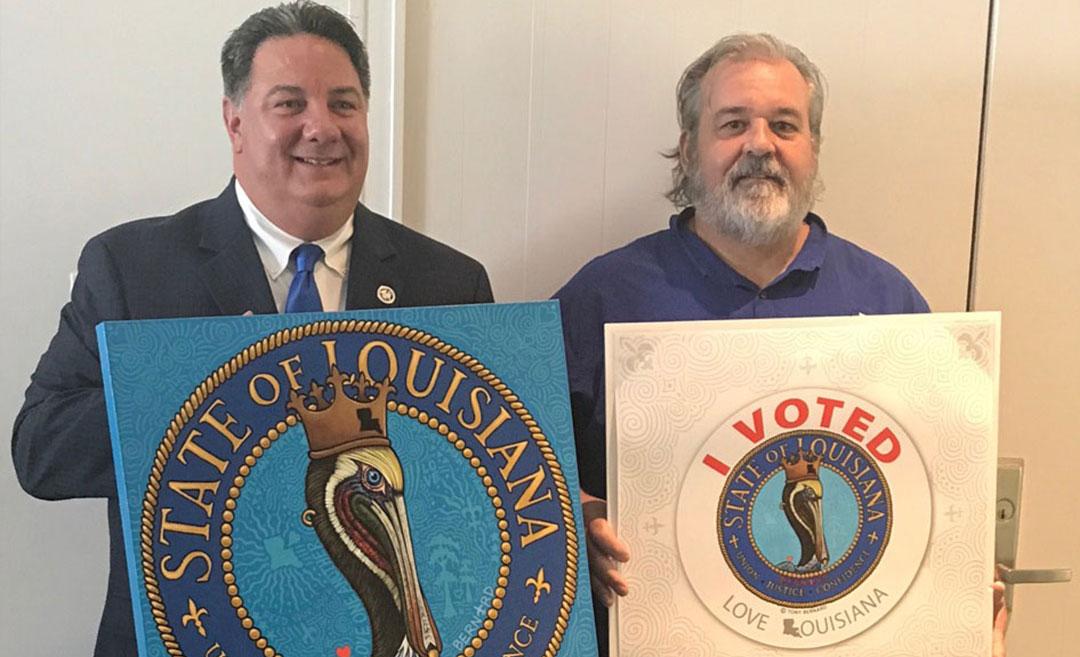 """Louisiana """"I Voted"""" Sticker"""